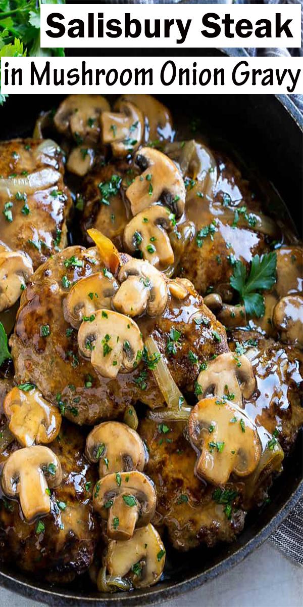 Salisbury Steak in Mushroom Onion Gravy #Salisbury #Steak #in #Mushroom #Onion #Gravy