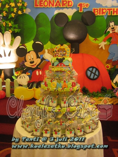 Kue Ulang Tahun Anak Cupcake Birthday Cake Mickey