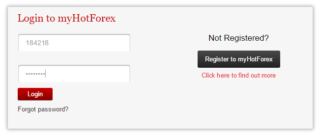 my hotforex login
