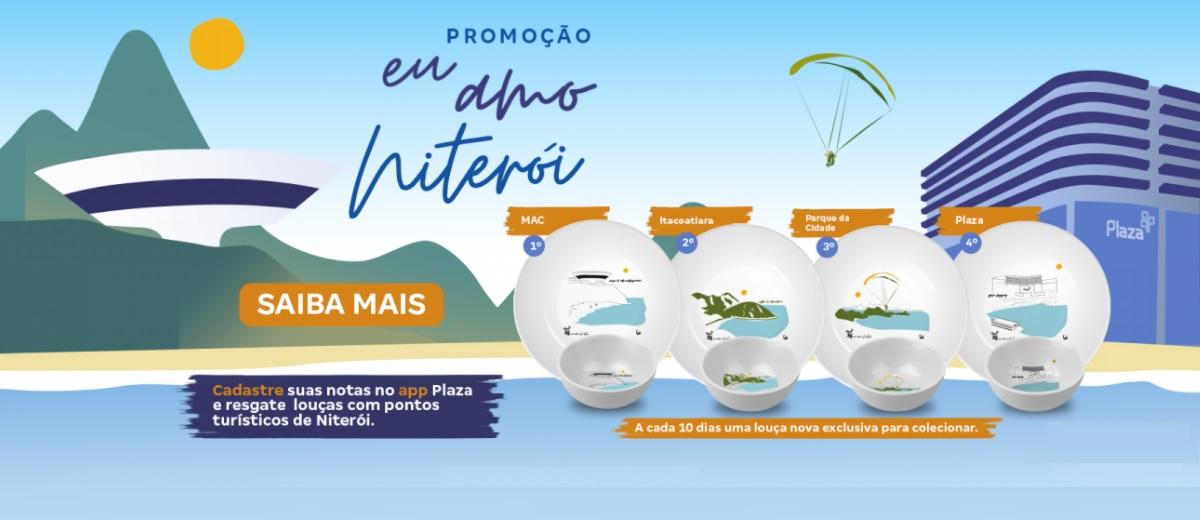 Promoção Eu Amo Niterói Shopping Plaza Ganhe Louças Aniversário 35 Anos