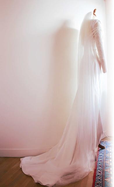 robe de mariée couture par couturère à Versailles