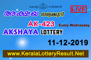 kerala lottery kl result, yesterday lottery results, lotteries results, keralalotteries, kerala lottery, keralalotteryresult, kerala lottery result, kerala lottery result live, kerala lottery today, kerala lottery result today, kerala lottery results today, today kerala lottery result, Akshaya lottery results, kerala lottery result today Akshaya, Akshaya lottery result, kerala lottery result Akshaya today, kerala lottery Akshaya today result, Akshaya kerala lottery result, live Akshaya lottery AK-423, kerala lottery result 11.12.2019 Akshaya AK 423 11 December 2019 result, 11 12 2019, kerala lottery result 11-12-2019, Akshaya lottery AK 423 results 11-12-2019, 11/12/2019 kerala lottery today result Akshaya, 11/12/2019 Akshaya lottery AK-423, Akshaya 11.12.2019, 11.12.2019 lottery results, kerala lottery result December 11 2019, kerala lottery results 11th December 2019, 11.12.2019 week AK-423 lottery result, 11.12.2019 Akshaya AK-423 Lottery Result, 11-12-2019 kerala lottery results, 11-12-2019 kerala state lottery result, 11-12-2019 AK-423, Kerala Akshaya Lottery Result 11/12/2019, KeralaLotteryResult.net