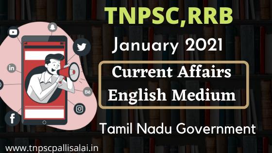 January 2021 Current Affairs PDF