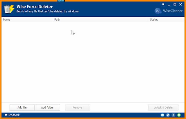 تحميل وشرح برنامج Wise Force Deleter حذف الملفات الغير قابلة للحذف