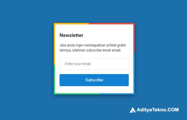 Cara Membuat Kotak Langganan atau Subscribe Box dengan Animasi di Blogger