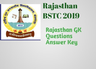 Rajasthan BSTC exam 2019 Answer Key