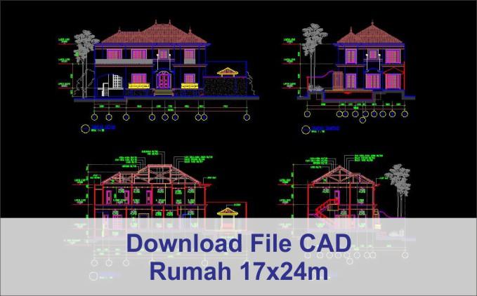 download rumah 17x24 File AutoCad