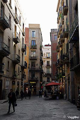 Vie del quartiere gotico di Barcellona