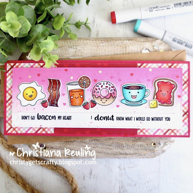 Sunny Studio Stamps: Breakfast Puns Customer Card by Christy Reuling