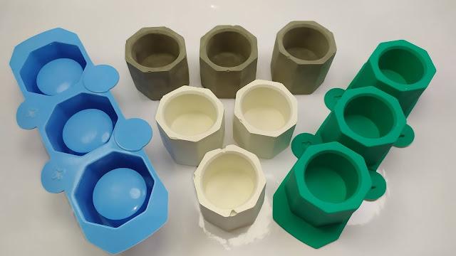 قوالب سيليكون إبداعية للإسمنت و الجبس  Silicone Mold Creative Geometric Polygonal Concrete