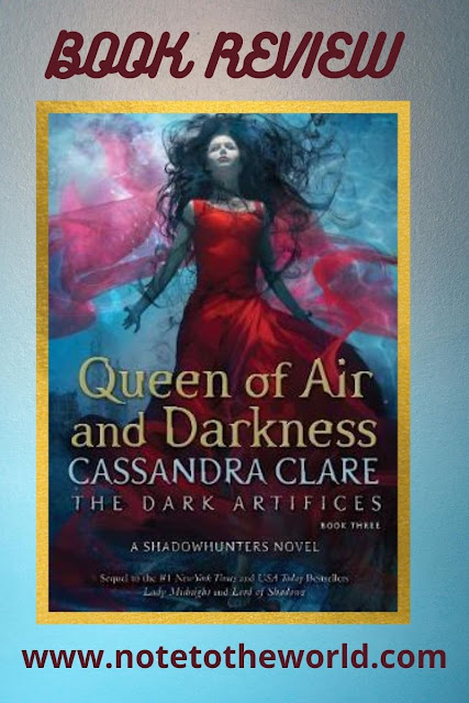 The third book of the dark artifices trilogy. It mainly focuses on the evils of the Cohort and the measures the rest of the Shadowhunters and Downworlders take to stop them.