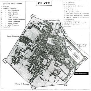 Porta Fiorentina - Mappa Prato