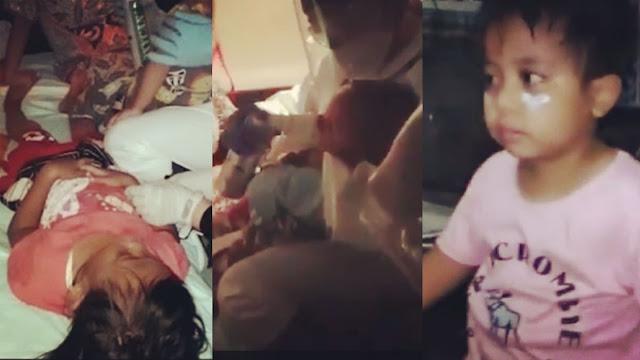 Balita dan Anak-anak Ikut  jadi Korban Tembakan Gas Air Mata Polisi di Kwitang