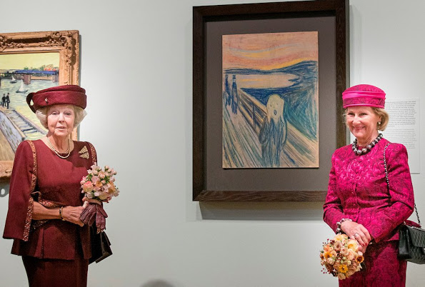 Princess Beatrix And Queen Sonja At Opening A Exhibition In Amsterdam