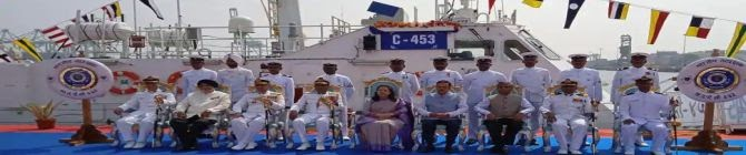 Indian Coast Guard Commissions 105-Ton Indigenous Interceptor Boat C-453 For Eastern Fleet