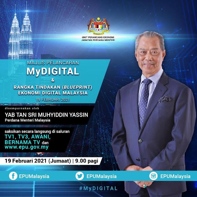 Pengumuman MyDigital Pelan Pembangunan Ekonomi Digital Malaysia Oleh Perdana Menteri