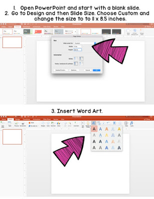 Use PowerPoint to create name posters for students to decorate.