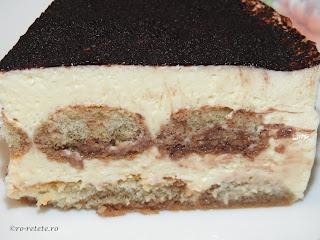Tiramisu reteta traditionala italiana clasica cu oua mascarpone si piscoturi retete prajituri torturi si deserturi de casa,