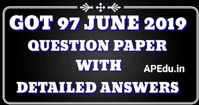 GOT 97 JUNE 2019 QUESTION PAPER