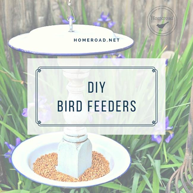 DIY Garden Bird Feeders www.homeroad.net
