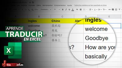 Como Traducir un Texto en Excel