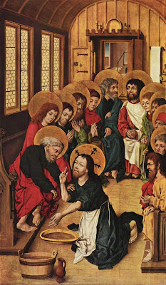 Yesus Membasuh Kaki Para Rasul | Karya Meister des Hausbuches, 1475 | Sumber ttps://id.wikipedia.org/wiki/Berkas:Meister_des_Hausbuches_003.jpg