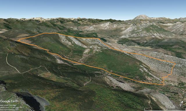 Mapa de la ruta al Pico de la Cruz desde Mallo de Luna