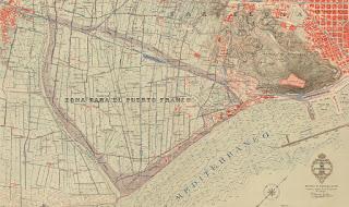 Mapa del espacio hospitalense expropiado (1926)
