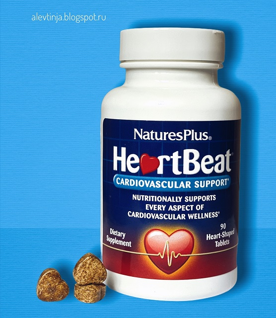 Nature's Plus, HeartBeat, поддержка сердечно-сосудистой системы, 90 таблеток в форме сердца