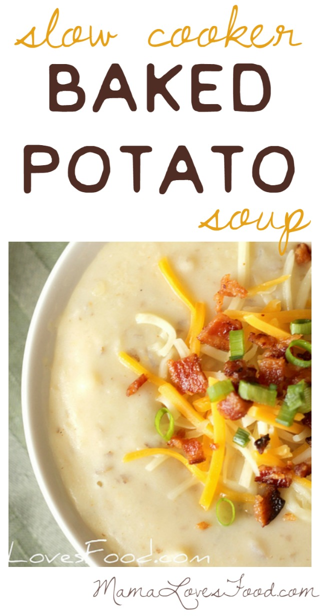 Slow Cooker Baked Potato Soup