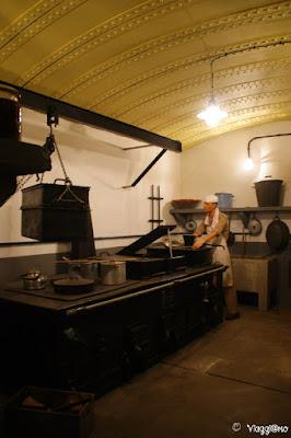 La cucina presente nel Bunker de l'Abri di Hatten
