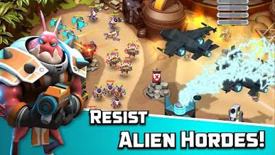 تحميل لعبة الاستراتيجية والمغامرات Alien Creeps TD النسخة المعدلة