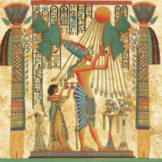 Tabela do Panteão Egípcio para atividades de aula.