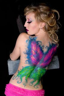 Matt Rakowski Body Painted Photoshoot