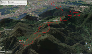 The hike tracks (without annotation).