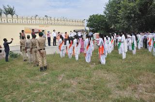 राष्ट्रीय सेवा योजना के स्वयंसेवकों, एनसीसी के कैडेट्स एवं छात्रों को दिलाई राष्ट्रीय एकता दिवस शपथ   #NayaSaberaNetwork