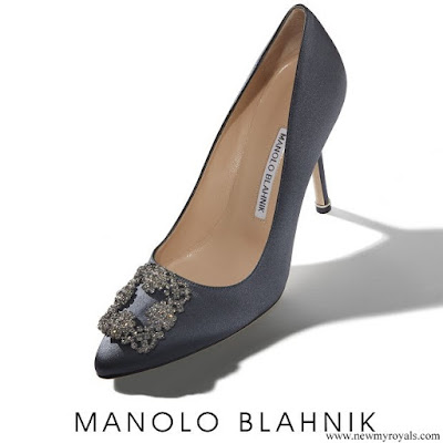 Crown Princess Mary wore Manolo Blahnik Hangisi Jeweled Pumps