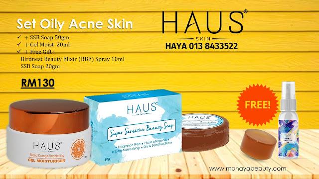 #HausSkinuntuk selesaikan masalah kulit berminyak dan berjerawat. Gabungan dua produk ni dah super power dah bantu kecutkan jerawat dan masalah kulit berminyak.