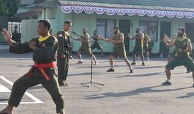 Prajurit Korem 081/DSJ Pelihara Kemampuan Bela Diri Militer
