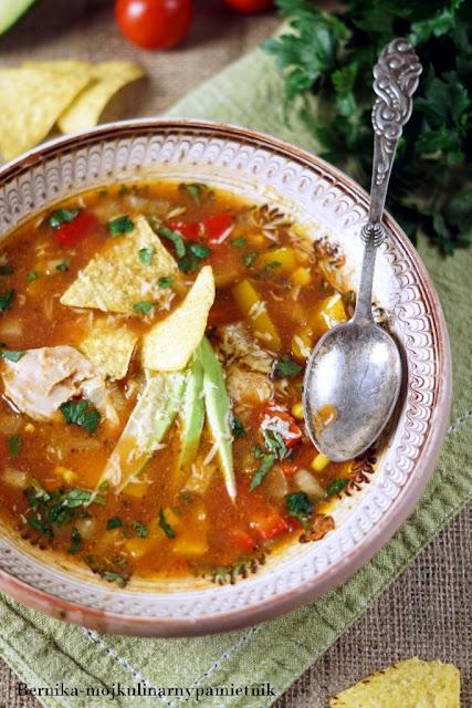 wolnowar, fajita, zupa, kurczak, bernika, obiad, kulinarny pamietnik, wolne gotowanie
