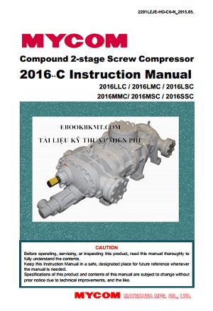 EBOOK - Screw refrigerant compressor MAYEKAWA N2016MSC & LLC & MMC