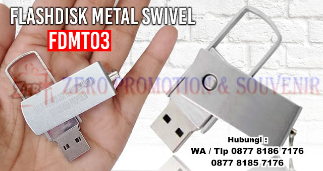 Flashdisk Swifel Metal, Usb Metal Putar, USB Metal Swivel FDMT03, Flashdisk Metal Custom Termurah Di Indonesia