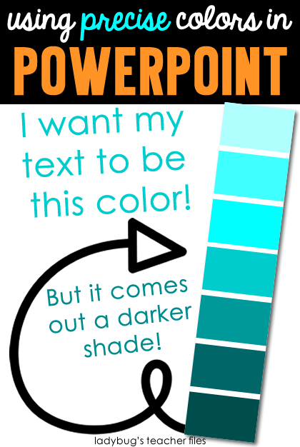using precise colors in powerpoint