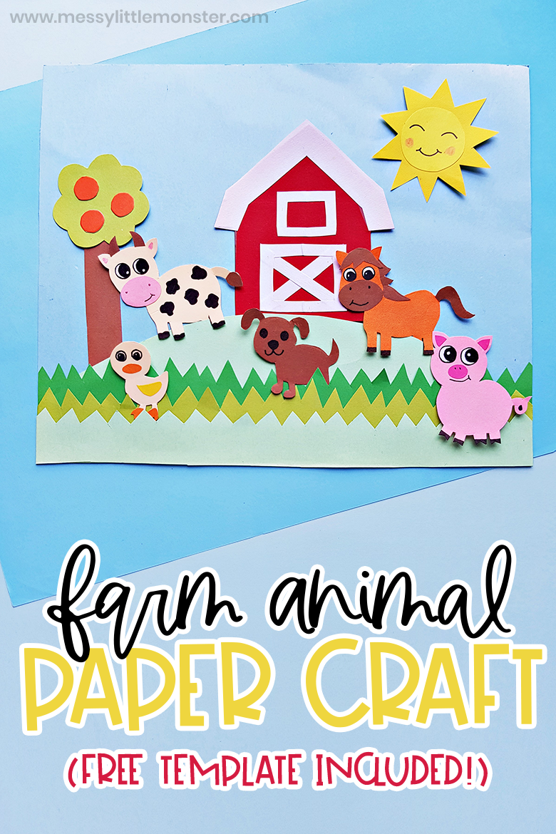 farm animal craft with template