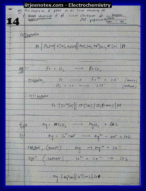 Electrochemistry 14