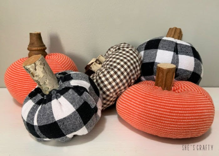 DIY Fabric Pumpkins with a twist