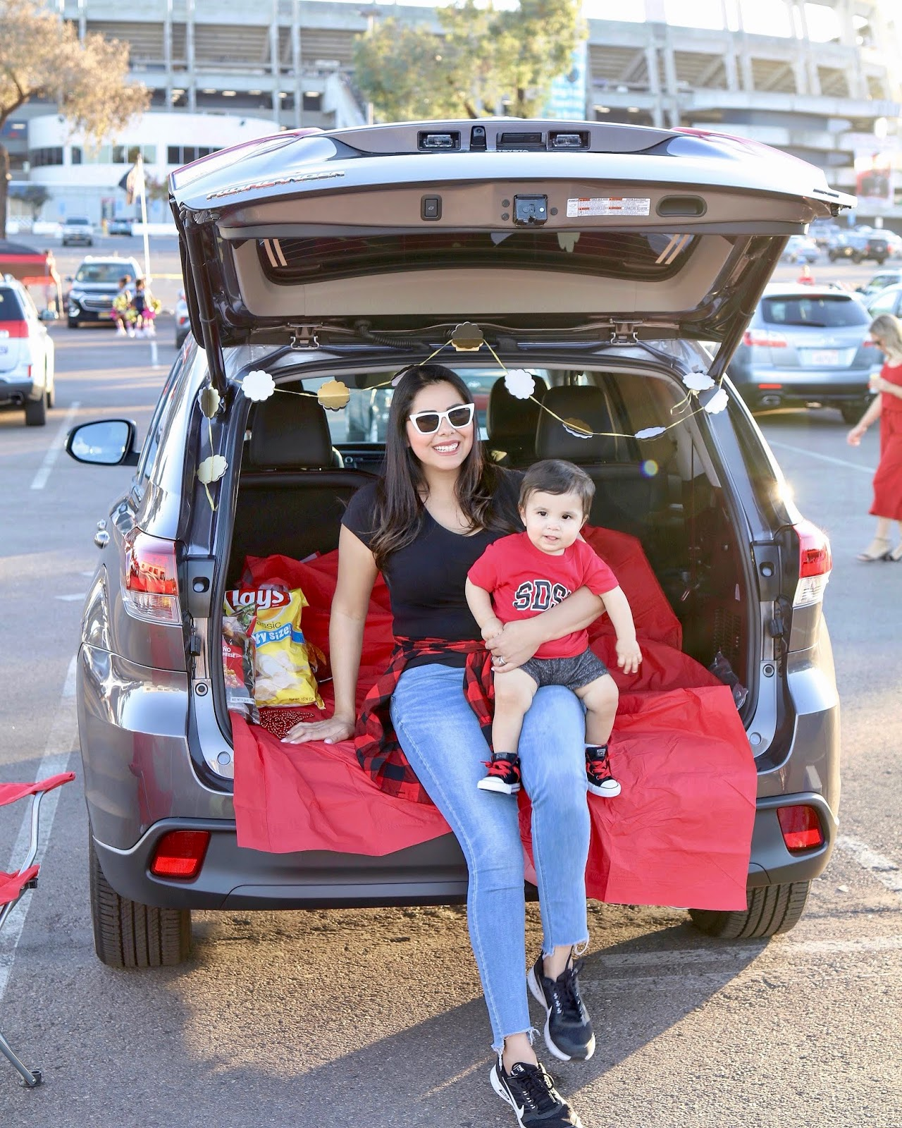 San Diego influencer, San Diego blogger, Family Tailgate Party with Toyota #ToyotaTailgate, how to tailgate with a baby