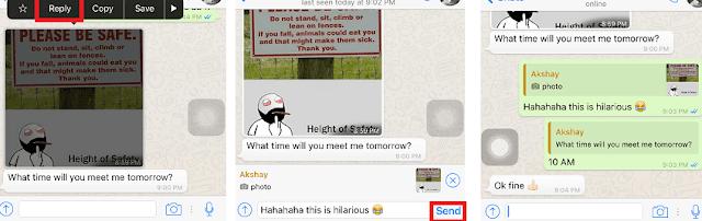 Begini Nih Cara membalas Pesan individu di WhatsApp 3