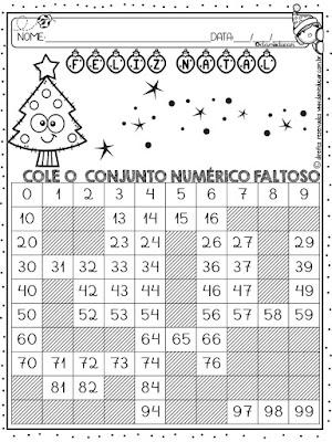 Natal, sequencia numerica, Sistema de numeração decimal, Atividades de Matemática, BNCC,