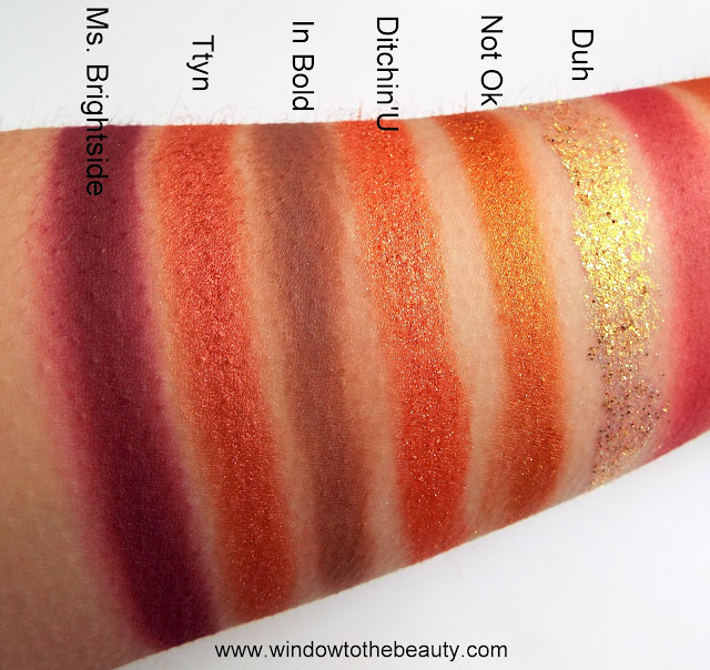 Colourpop Whatever second row swatches